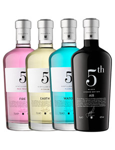 5th 5th Elements Gin Pakket 4 x 70cl