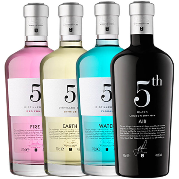 5th 5th Elements Gin Pack 4 x 70cl