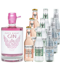 Gin Fling 58GIN  Pink Apple & Hibiscus and Fever-Tree Tasting Pack