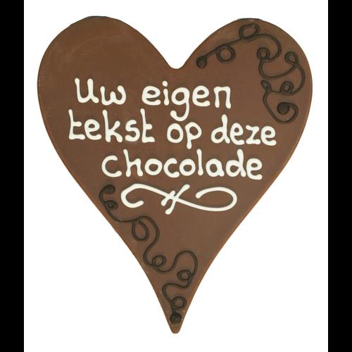 Eigen opschrift - Chocoladehart