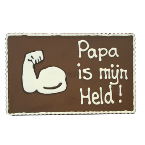 Papa is mijn held - Chocoladeplakkaat
