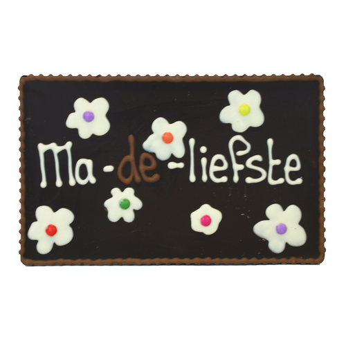 Ma-de-liefste - Chocoladeplakkaat