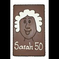 Sarah 50 - Chocoladeplakkaat