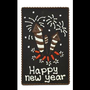 Happy new year - Chocoladeplakkaat
