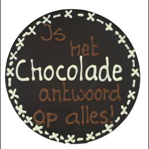 Chocolade is het antwoord op alles