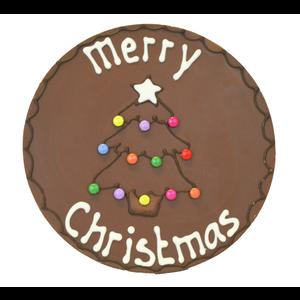 Merry christmas - Rond chocoladeplakkaat