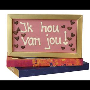 Ik hou van jou - Chocoladereep met tekst