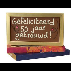 50 jaar getrouwd  - Chocoladereep met tekst