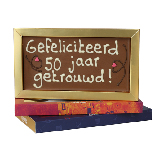 50 jaar getrouwd - Chocoladereep