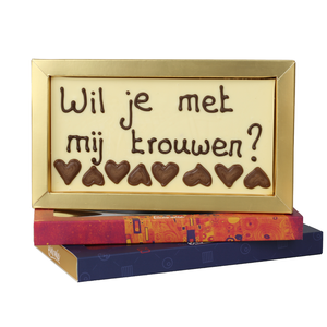 Wil je met me trouwen? - Chocoladereep met tekst