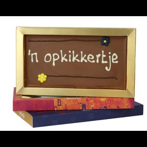 Opkikkertje - Chocoladereep met tekst