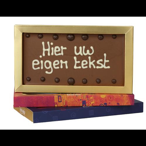 Chocolade reep met opschrift