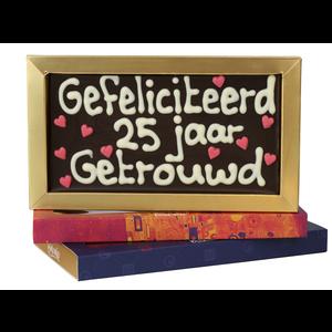 25 jaar getrouwd  - Chocoladereep met tekst