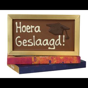 Hoera geslaagd - Chocoladereep met tekst