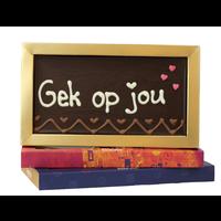 Gek op jou! - Chocoladereep met tekst