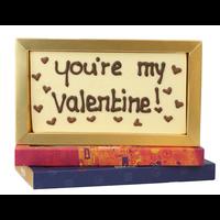 You're my valentine! - Chocoladereep met tekst