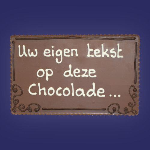 Chocolade-plakkaten met tekst