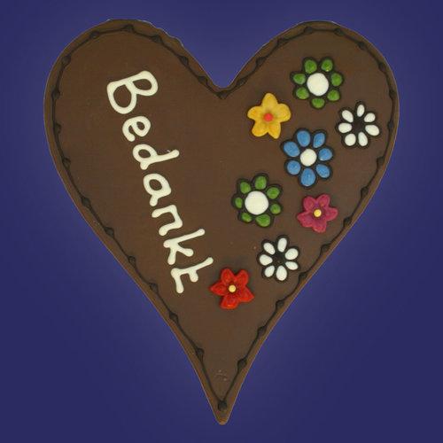 Chocoladeharten met tekst