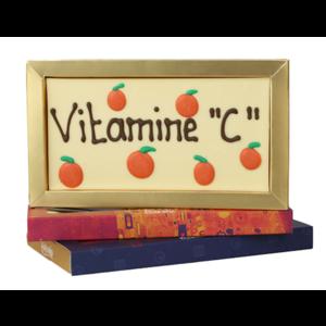 Vitamine C - Chocoladereep met tekst