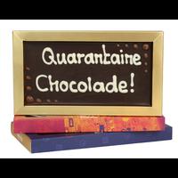 Quarantaine chocolade! - Chocoladereep met tekst