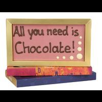All you need is chocolate! - Chocoladereep met tekst