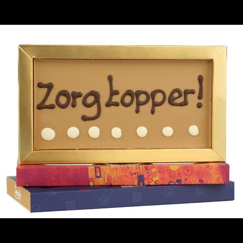 Zorgtopper - Chocoladereep met tekst