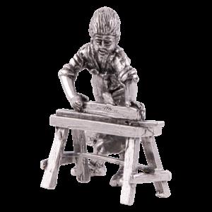 Timmerman met schaaf