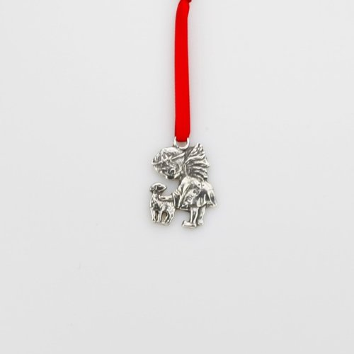 Christmas pendant - Child with Lamb