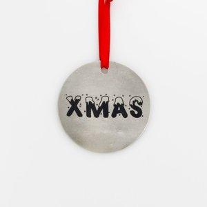 Round Christmas pendant