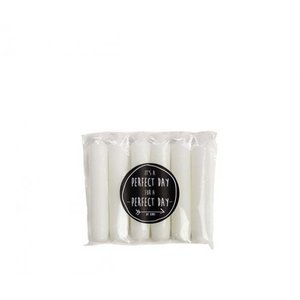 Rustik Lys Dinnercandle - White
