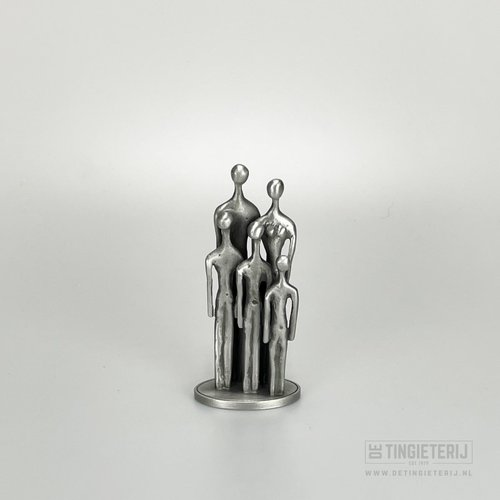 De Tingieterij Sculpture '' The Family - 3 child (13cm)
