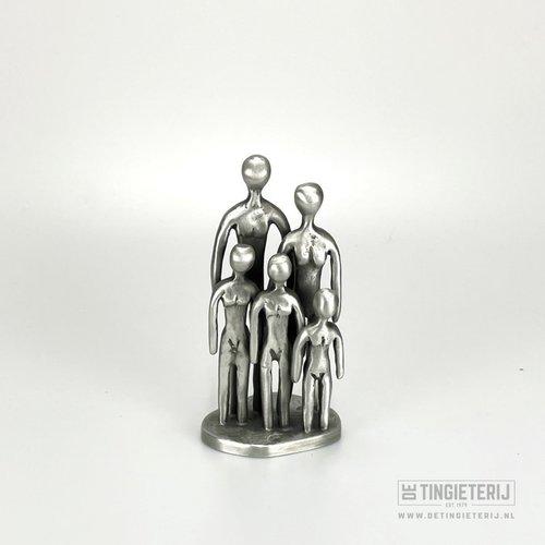 De Tingieterij Sculpture '' The Family '' - 3 children (16cm)