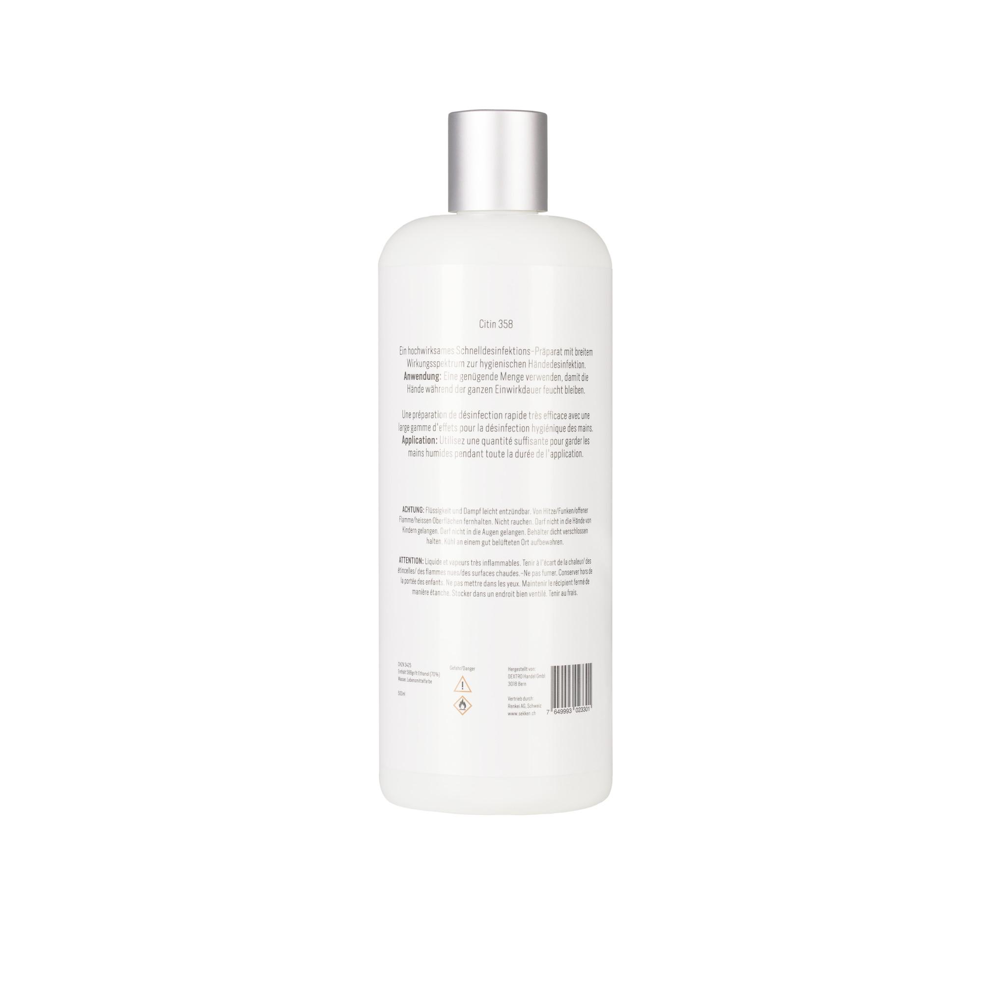 Citin 358 - 24 Stk. x 500ml Desinfektionsmittel für Hände und Flächen-2