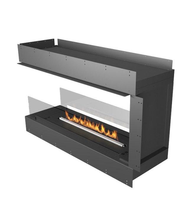 Planika Prime Fire 990+ Forma Firebox 1200 Roomdivider Inbouwhaard