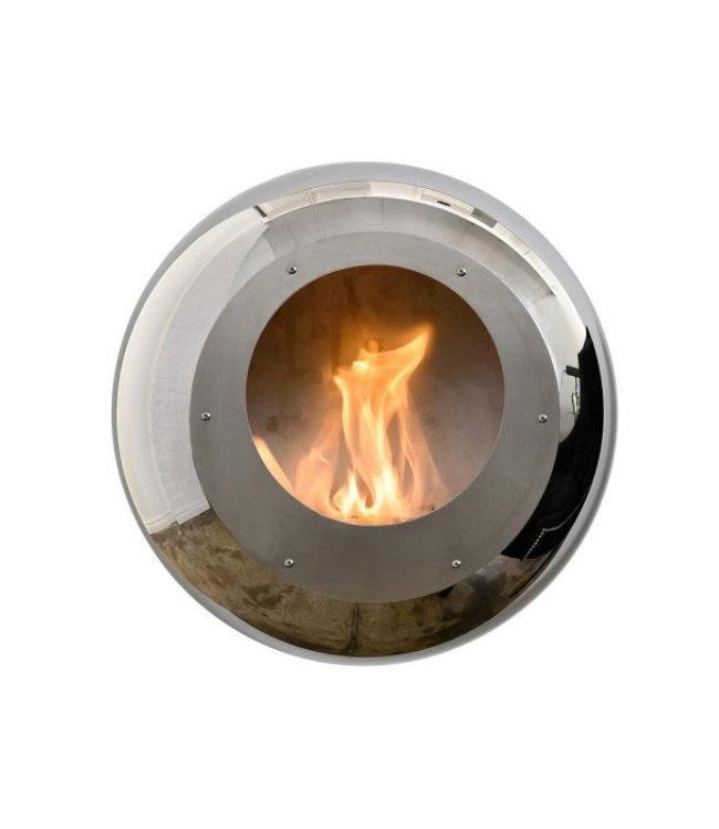 Cocoon Fires Vellum Wall Cocoon RVS Bio-ethanol Wandhaard