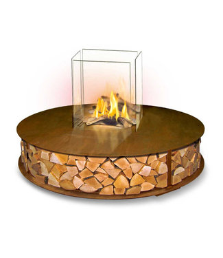 The Flame The BENCH Bio-ethanol Haard Rond