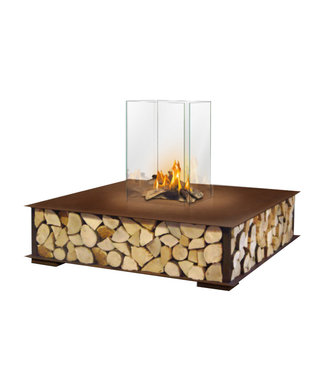 The Flame The BENCH Bio-ethanol Haard Vierkant