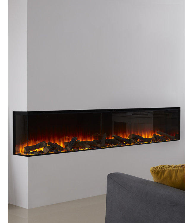 British Fires New Forest Electric 2400 Elektrische Inbouwhaard Linkerhoek