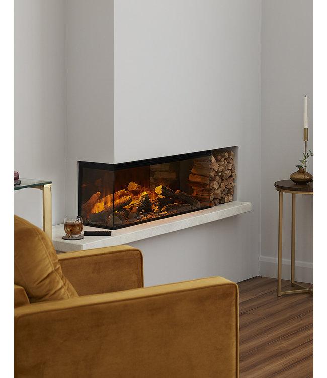 British Fires New Forest Electric 870 Elektrische Inbouwhaard Linkerhoek