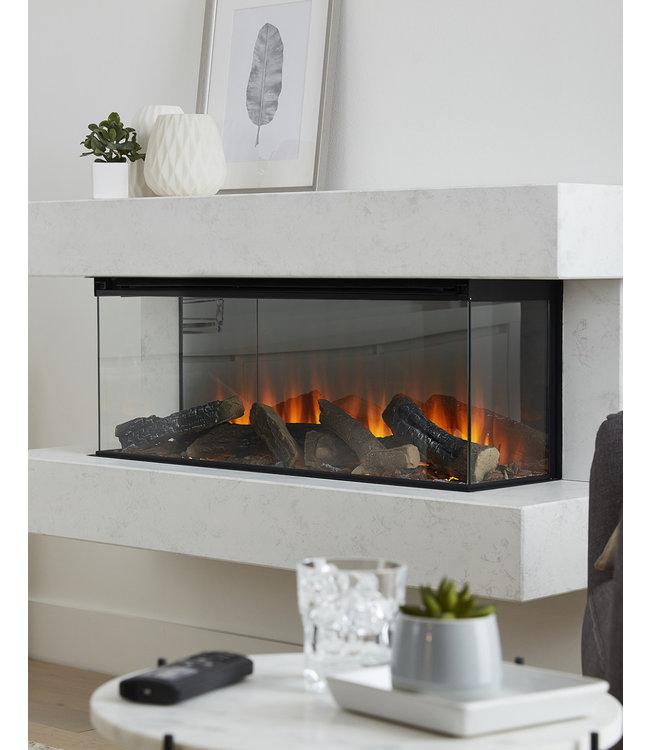 British Fires Winchester Elektrische Wandhaard Wit Marmer