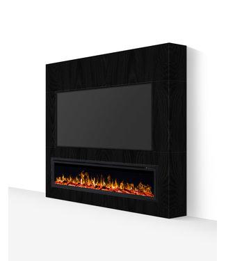 TV wand tot 55 inch houtlook zwart
