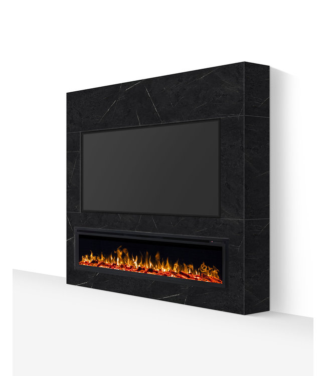 TV wand tot 72 inch grijs marmerlook