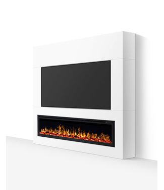 TV wand tot 72 inch wit zijdeglans gelakt