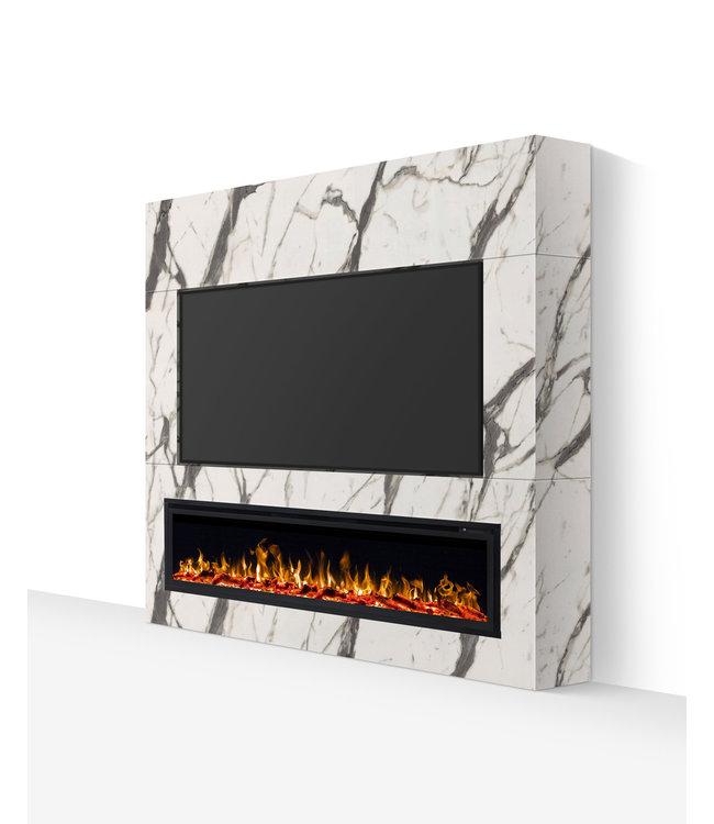 TV wand tot 72 inch wit marmerlook