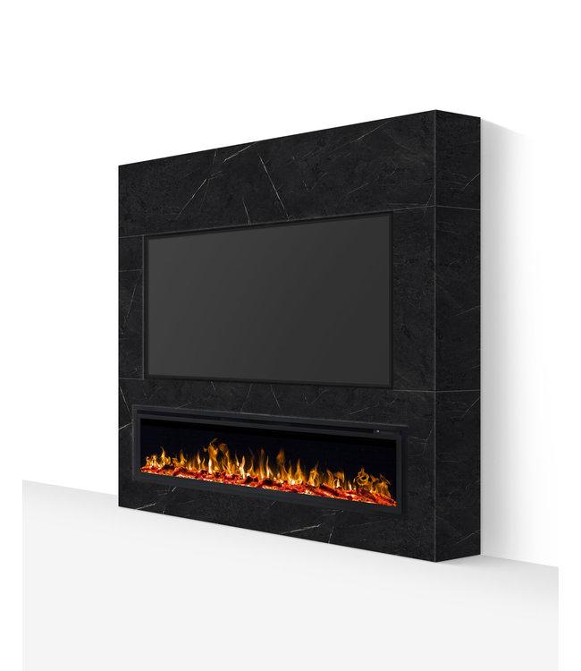 TV wand tot 77 inch grijs marmerlook