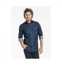 Chaud Devant UITVERKOOP Overhemd Men Blue Denim stretch