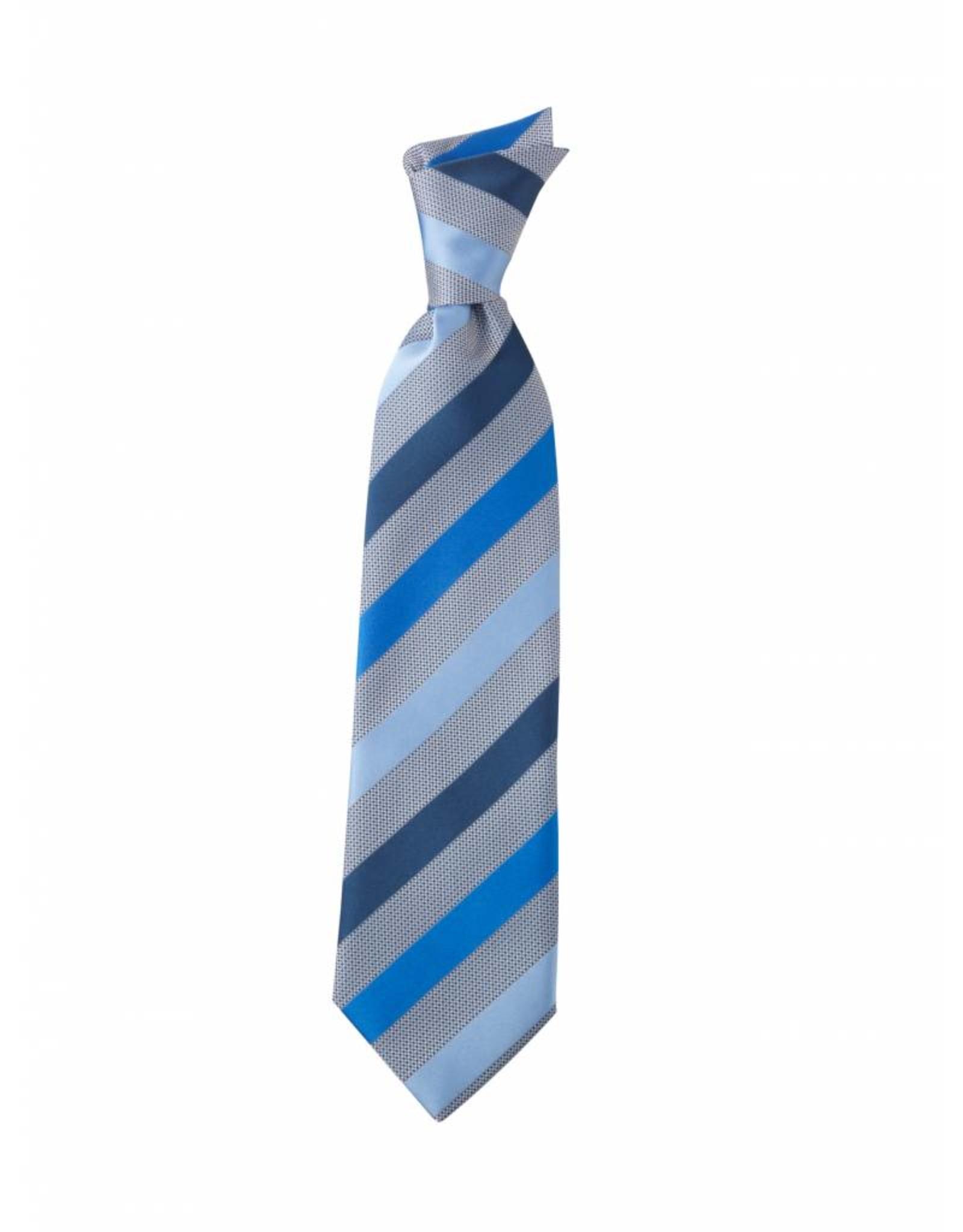 Greiff Stropdas blauw-grijs gestreept