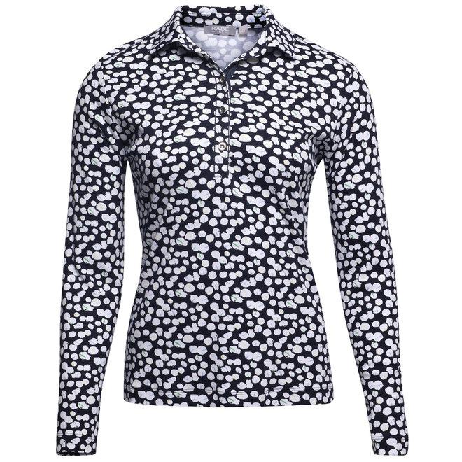 Poloshirt met All-Over Dessin