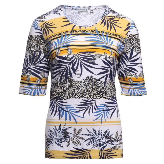 T-Shirt met Fleurig Dessin