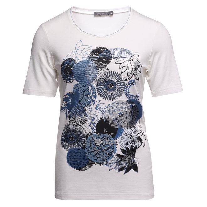T-Shirt met Metallic Opdruk